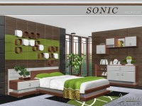 The Sims Resource: Sonic Bedroom by NynaeveDesign  Sims 4 ...