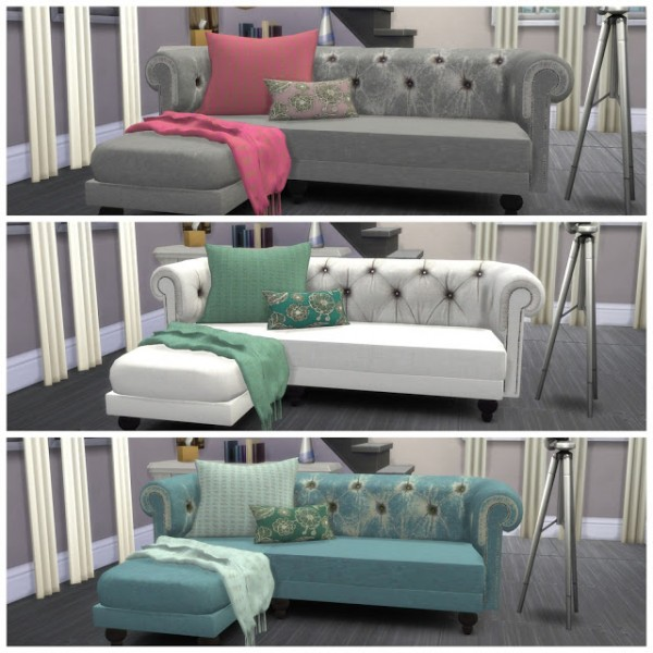 Dinha Gamer Sofa recolor  Sims 4 Downloads