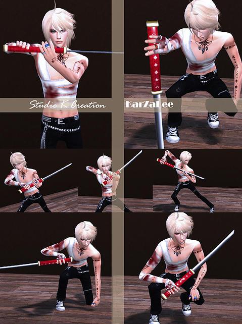 Studio K Creation Katana sword poses set  Sims 4 Downloads