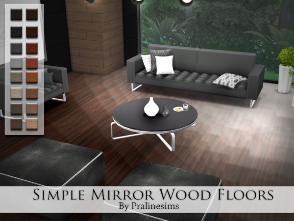 The Sims Resource Simple Mirror Wood Floors by Pralinesims  Sims 4 Downloads