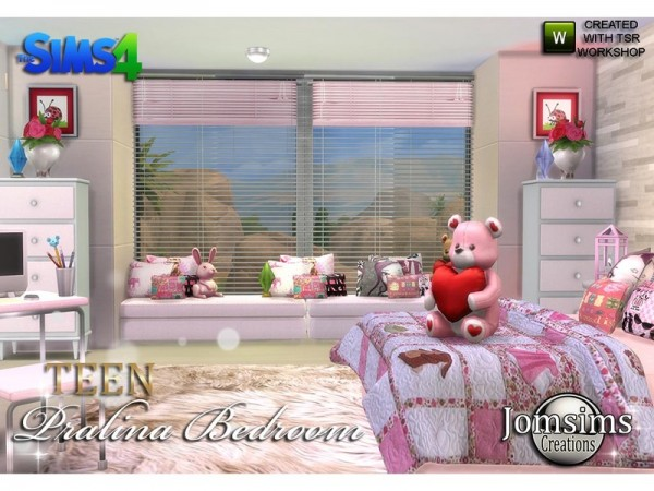 The Sims Resource Pralina Teen Bedroom By Jomsims Sims