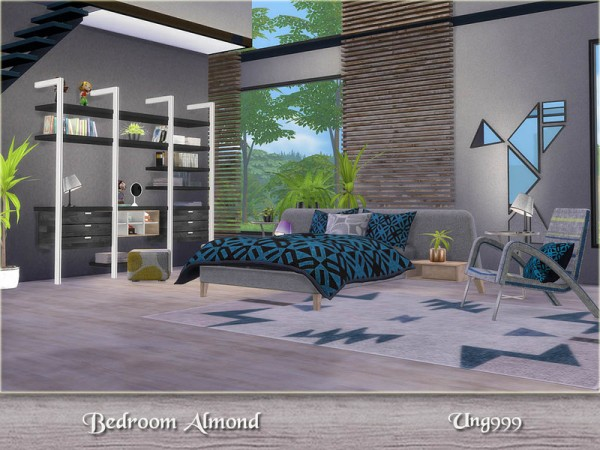 The Sims Resource Bedroom Almond by ung999  Sims 4 Downloads