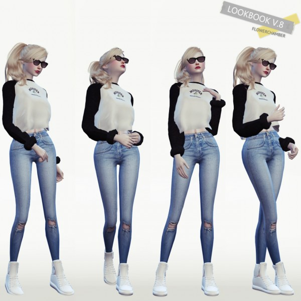 Flower Chamber Lookbook V8  10 poses set  Sims 4 Downloads