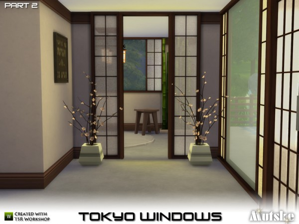 The Sims Resource Tokyo Windows, Doors And More By Mutske