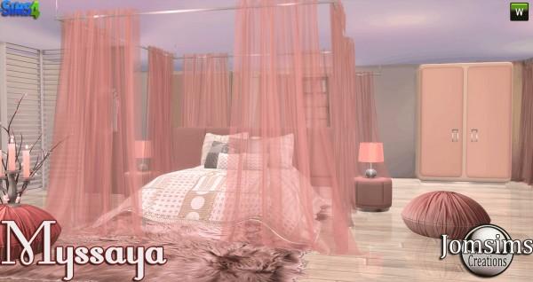 Jom Sims Creations Myssaya bedroom  Sims 4 Downloads