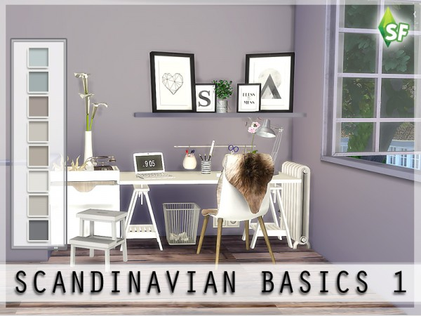 The Sims Resource Scandinavian Wall Set by SimFabulous  Sims 4 Downloads