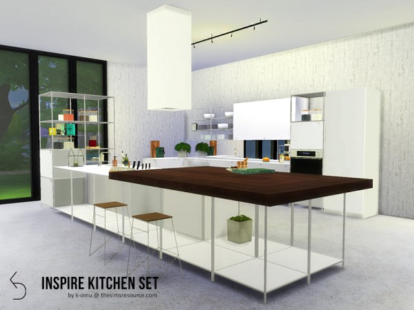 The Sims Resource INSPIRE Kitchen Set by komu  Sims 4