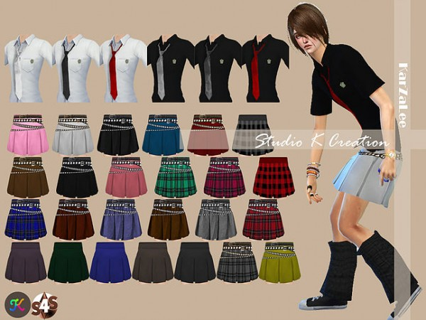 Studio K Creation Men School Uniform Sims 4 Downloads