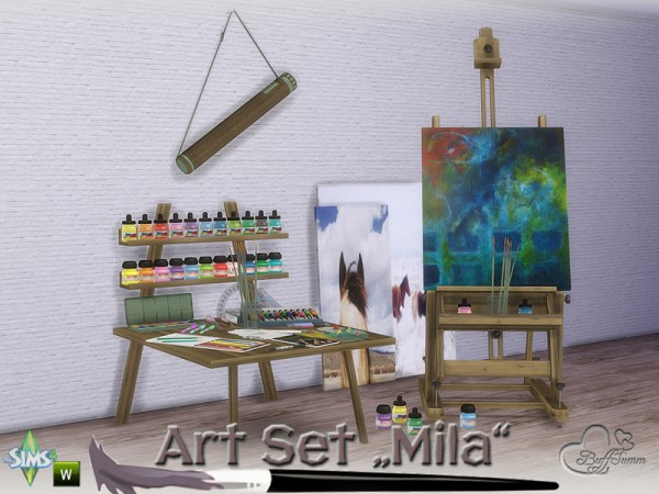 The Sims Resource Mila Art Hobby Set by BuffSumm  Sims 4