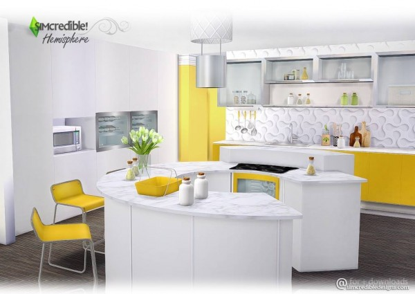 SIMcredible Designs Hemisphere Kitchen Sims 4 Downloads