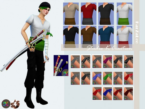 Studio K Creation Zoro outfit  Sims 4 Downloads