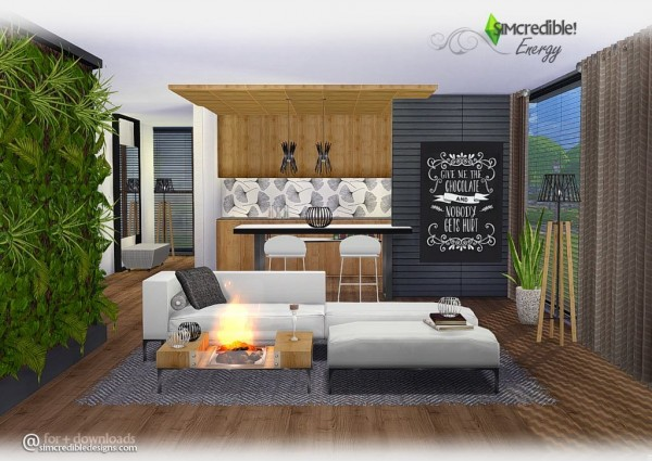 √ SIMcredible Designs: Energy livingroom Sims 4 Downloads