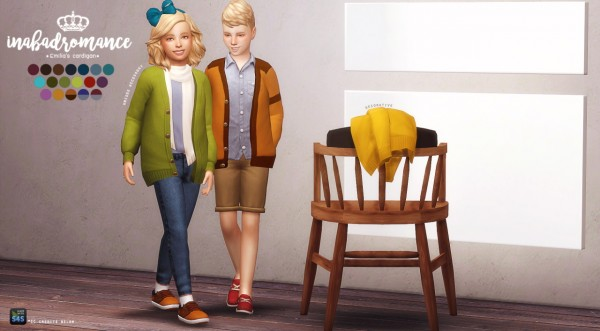 In A Bad Romance Child Accessory Cardigan Sims 4 Downloads