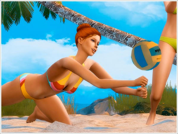 Sims By Severinka Beach Volleyball Pose Pack Sims 4
