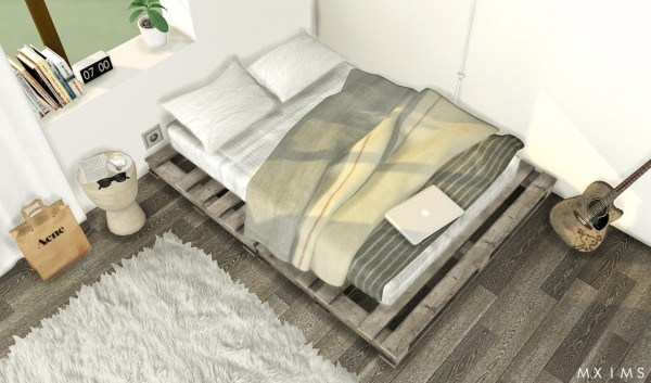 MXIMS Pallet Floor Bed Sims 4 Downloads