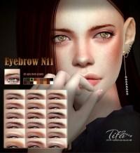 Tifa Sims: Eyebrows N11 M/F  Sims 4 Downloads