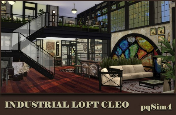 PQSims4 Industrial loft Cleo  Sims 4 Downloads