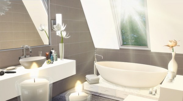 Caeley Sims Attic Bathroom  Sims 4 Downloads