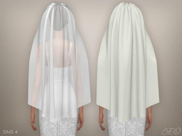 BEO Creations Wedding veil 03  Sims 4 Downloads