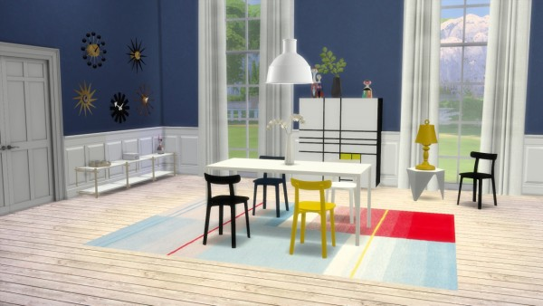 Meinkatz Creations All Plastic Chair by Vitra  Sims 4
