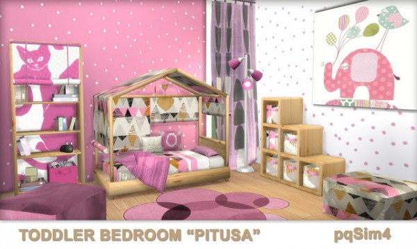 PQSims4 Toddler Bedroom Pitusa  Sims 4 Downloads