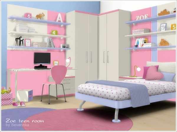 The Sims Resource Zoe teen room furniture by Severinka