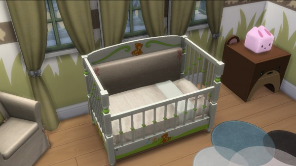 Enure Sims Animal Crib for Toddlers  Sims 4 Downloads