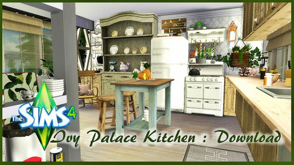Pandashtproductions Ivy Palace Kitchen  Sims 4 Downloads