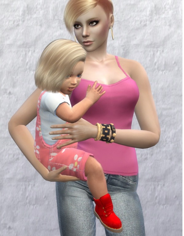 Mod The Sims Happy first Birthday Poses for Mother and