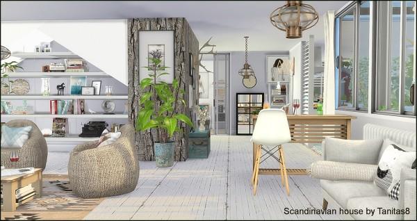 Tanitas Sims Scandinavian house  Sims 4 Downloads