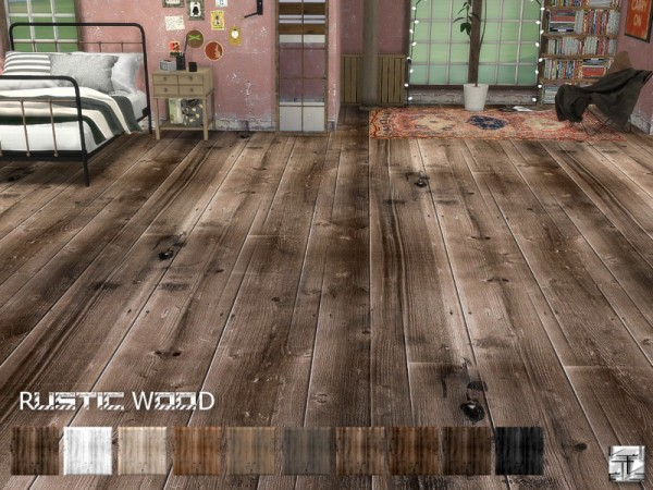 The Sims Resource Rustic Wood Floors by Torque  Sims 4 Downloads