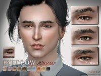 The Sims Resource: Eyebrows M 201702 by S-Club  Sims 4 ...