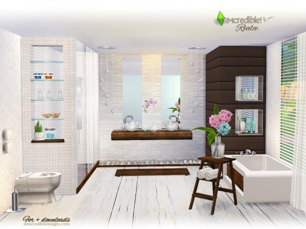 The Sims Resource Realce bathroom by SIMcredible  Sims 4