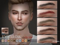 The Sims Resource: Eyebrows M 201704 by S-Club  Sims 4 ...