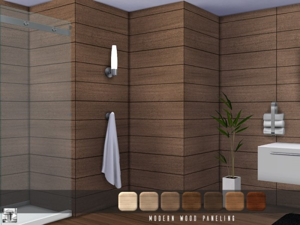 The Sims Resource Modern Wood Paneling by Torque  Sims
