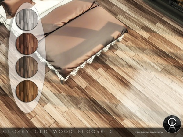 The Sims Resource Glossy Old Wood Floors 2 by Pralinesims  Sims 4 Downloads