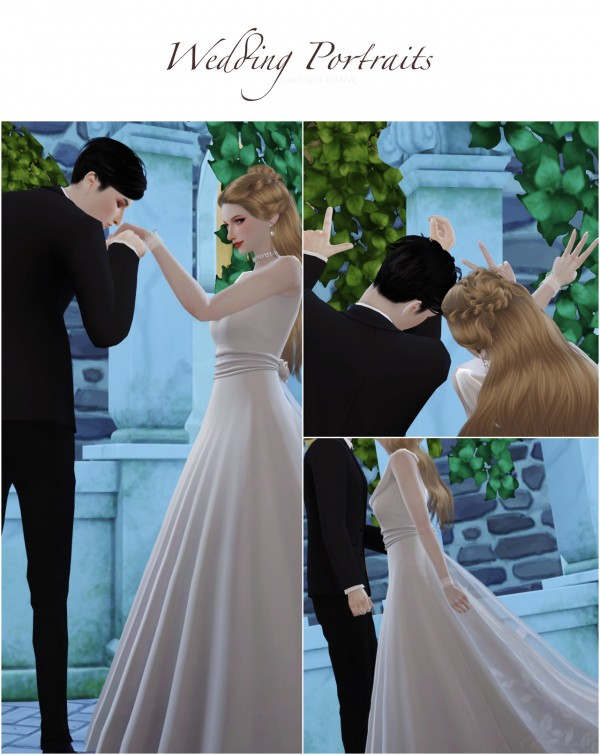 Flower Chamber: Wedding Project Poses Sets • Sims 4 Downloads