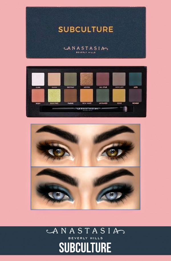 Kenzar Sims Anastasia Beverly Hills Subculture Palette