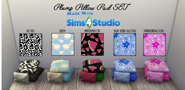 Mod The Sims Plump Pillow Pad SET20 Patterns by