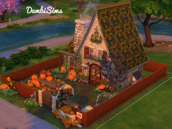 The Sims Resource Pumpkin Cottage Farm by dambsims  Sims