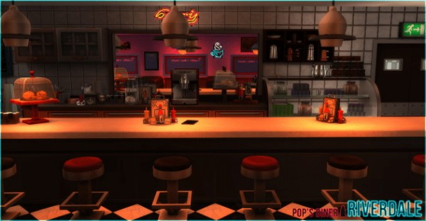 Akisima Sims Blog Riverdale Pops Diner  Sims 4 Downloads