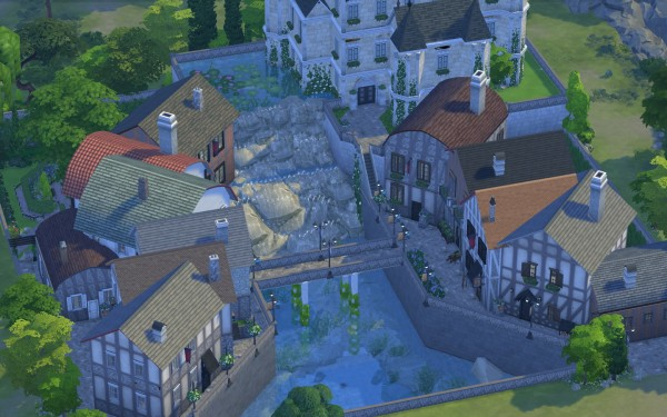 Mod The Sims Old French Village By Catdenny Sims 4