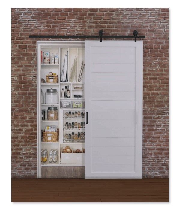 Simthing New Fake Barn Door Pantry  Sims 4 Downloads