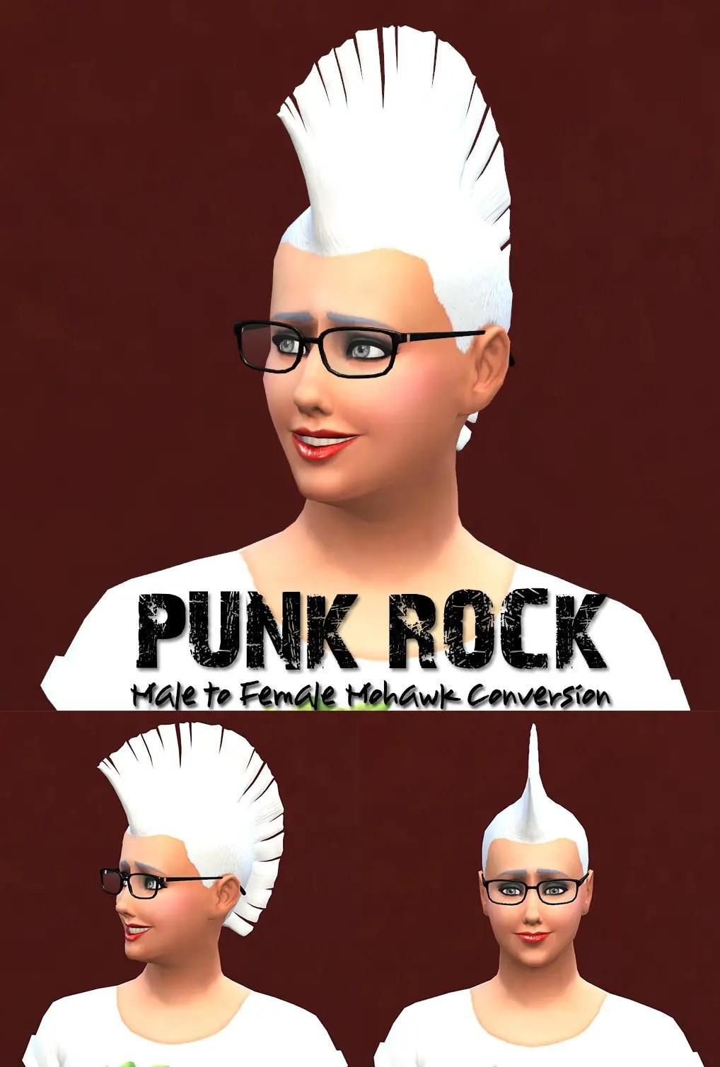 Sims 4 Hairs Jorgha Haq Punk Rock Male To Female