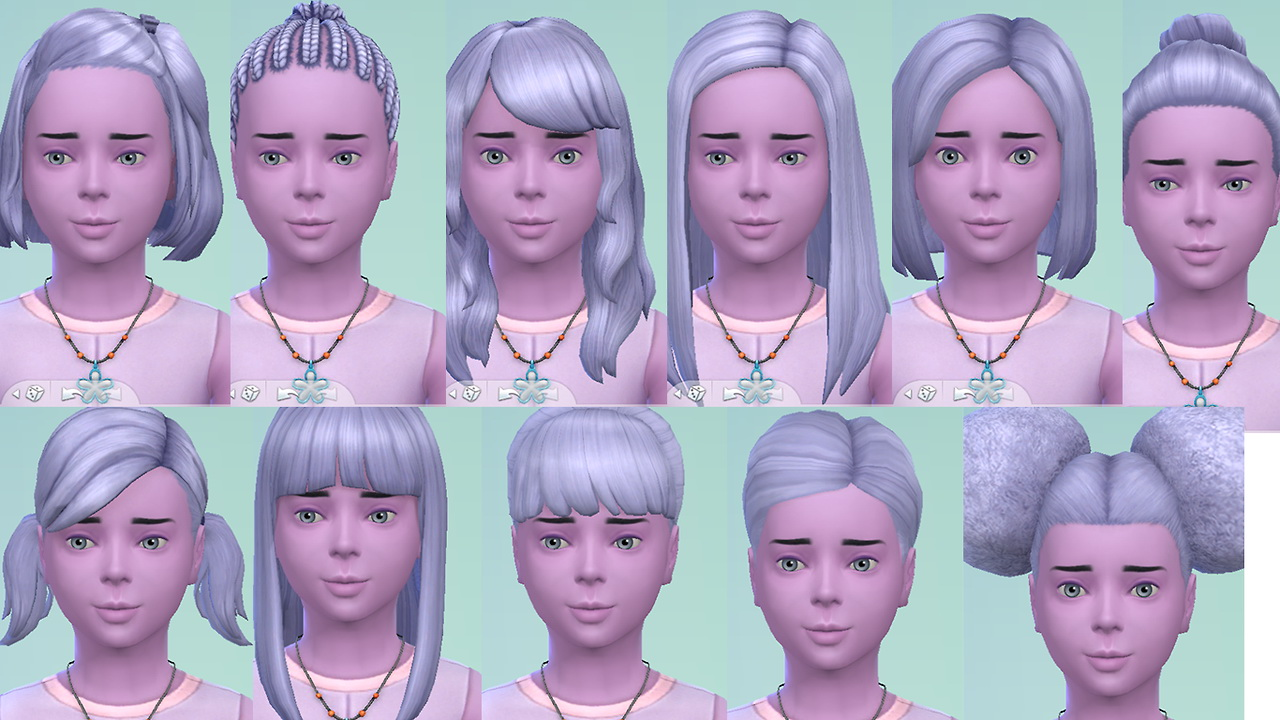 Sims 4 Hairs Stars Sugary Pixels Angel Blue Hairstyle