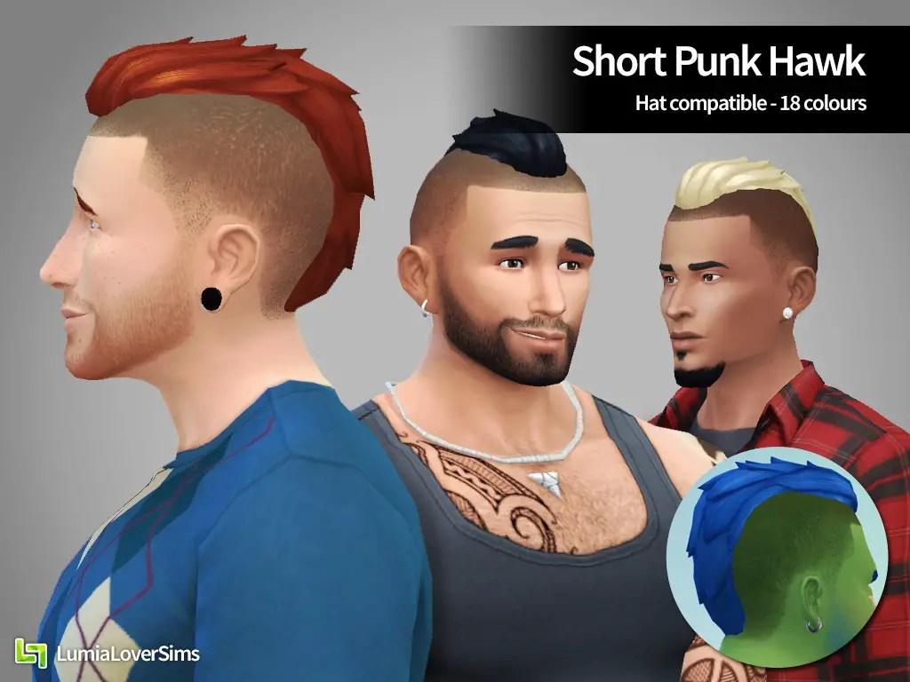 Sims 4 Hairs Lumia Lover Sims Short Punk Hawk Hairstyle