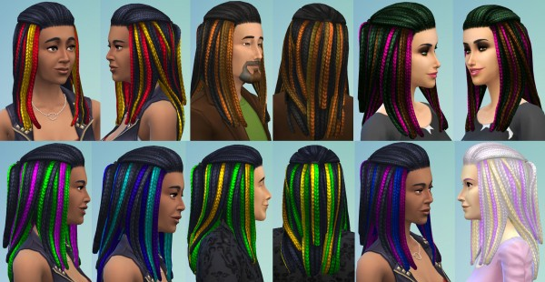 Sims 4 Hairs Mod The Sims Vibrant Braids For Men