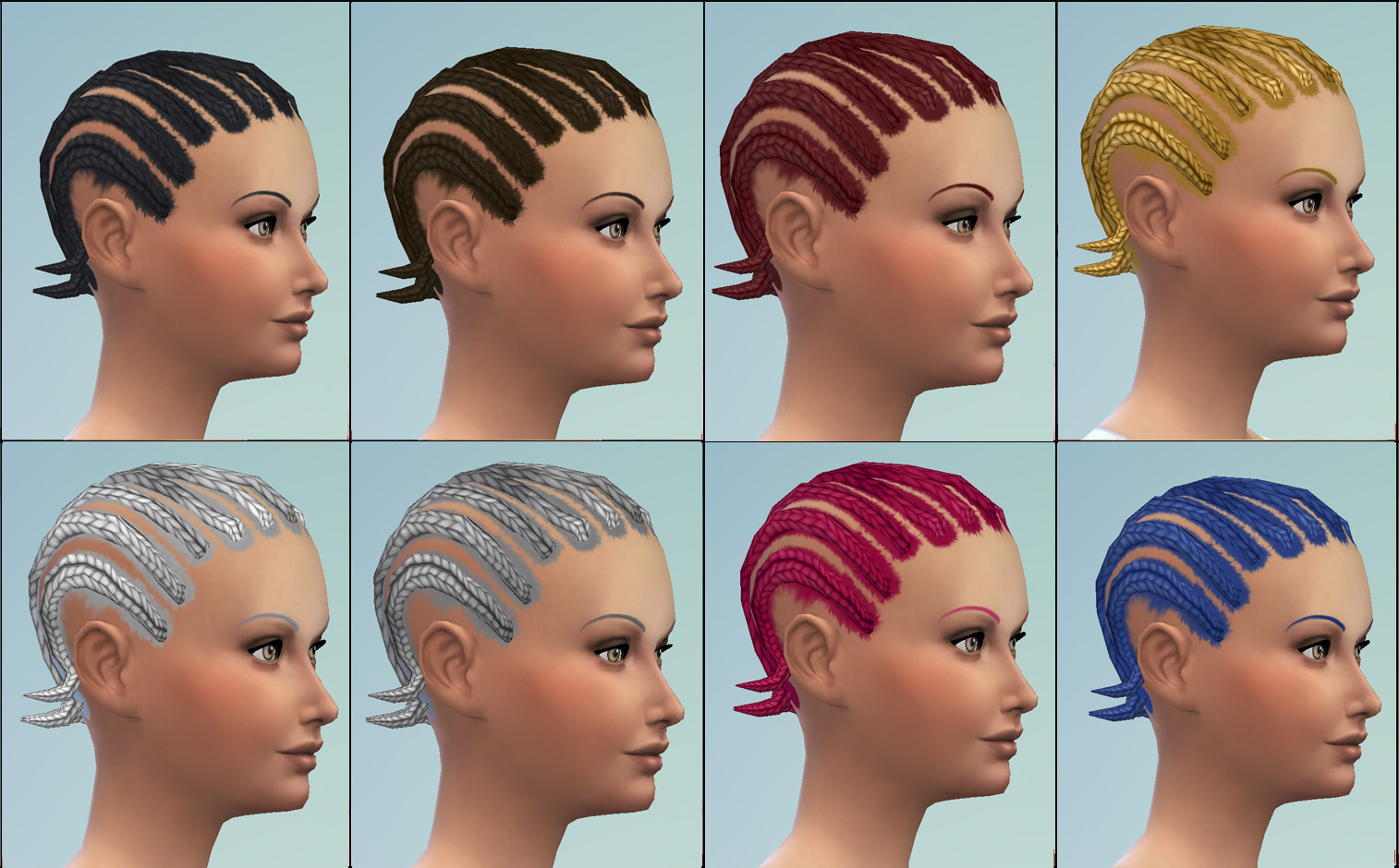Sims 4 Hairs Mod The Sims Short Cornrows Hairstyle By
