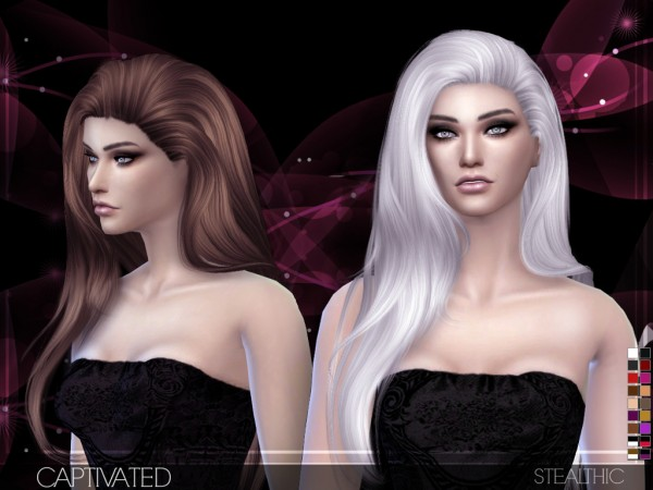 Sims 4 Hairs Stealthic Captivated Hairstyle