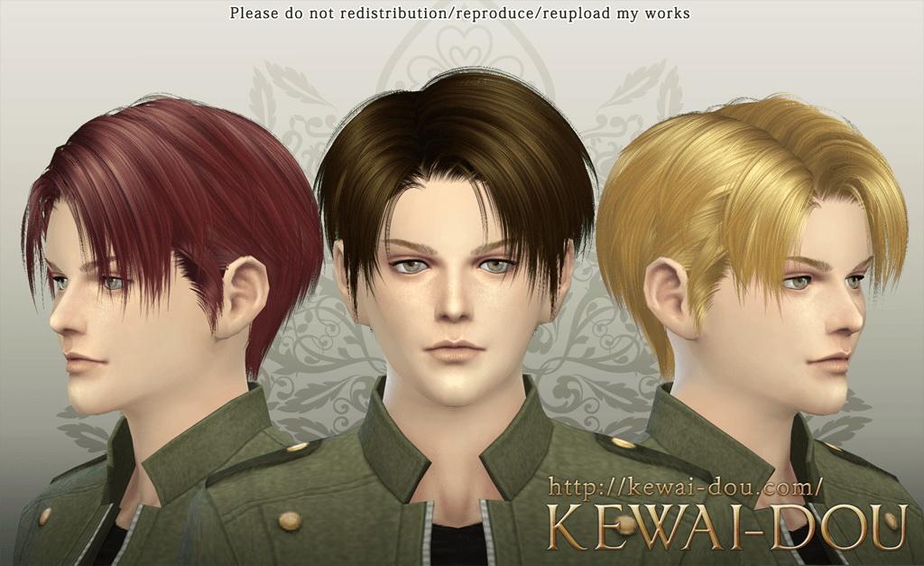 Sims 4 Hairs KEWAI DOU Levi Hairstyle